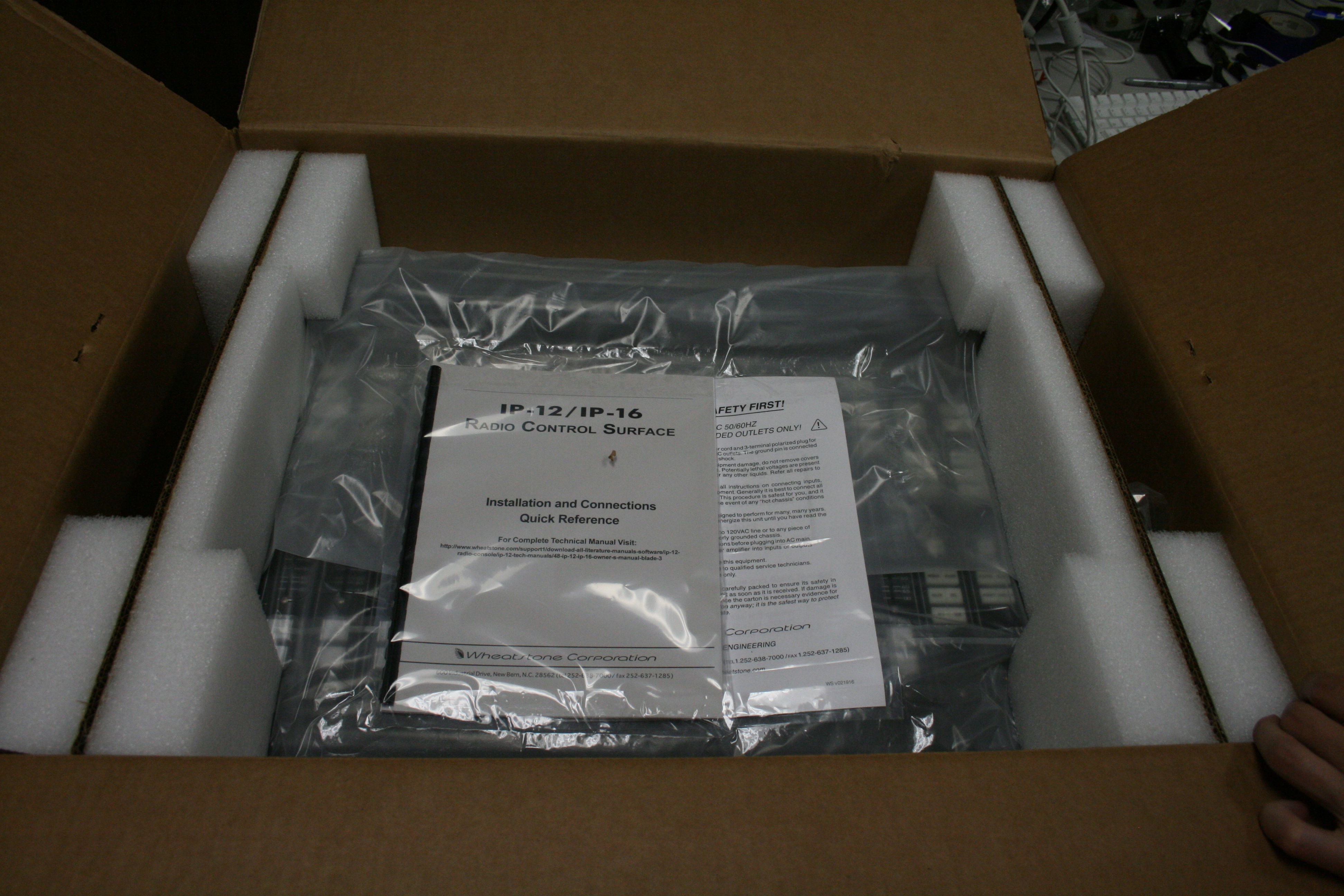 a photo of the new board in its packaging