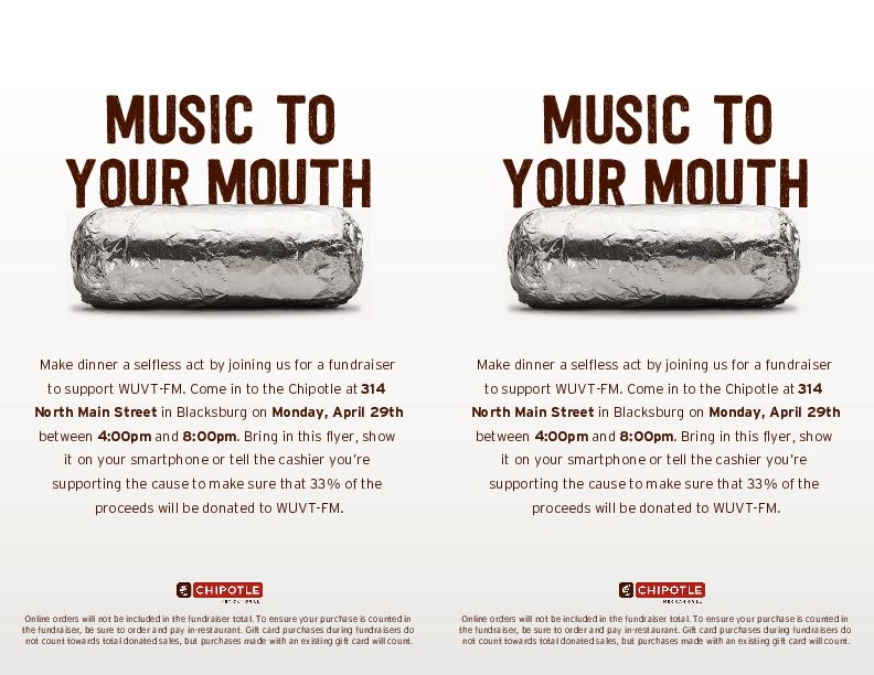 Chipotle flyer wide