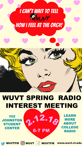WUVT Spring 2018 Orgy Poster